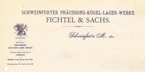 Altes Briefpapier der Fa. Fichtel & Sachs