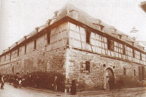Das alte städt. Brauhaus am Roßmarkt, erbaut 1622