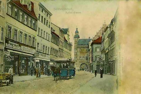 Pferdebahn in der Spitalstraße um 1904