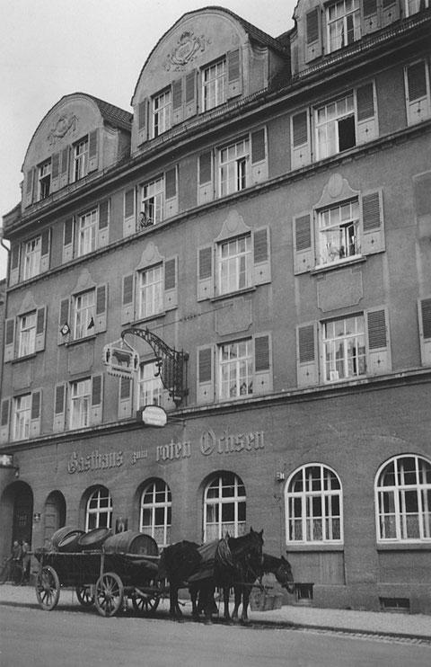 1933 - Manggasse - Gasthof Roter Ochse
