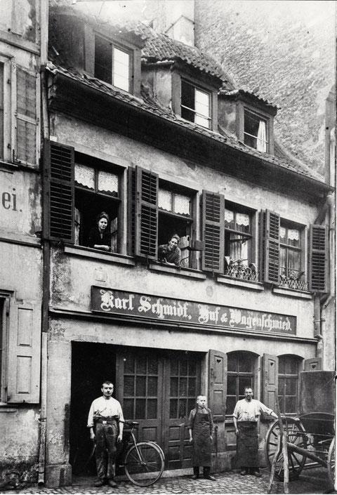 Rittergasse Nr.4 - wohl um 1920