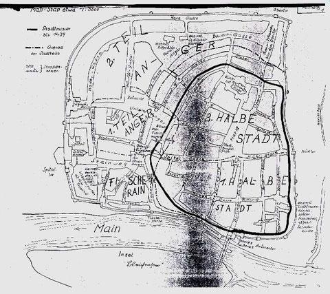 Erste Stadtmauer vor dem Stadtverderben (bis 1437)