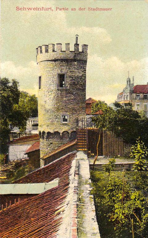 An der Westmauer (Rüfferstraße) um 1910