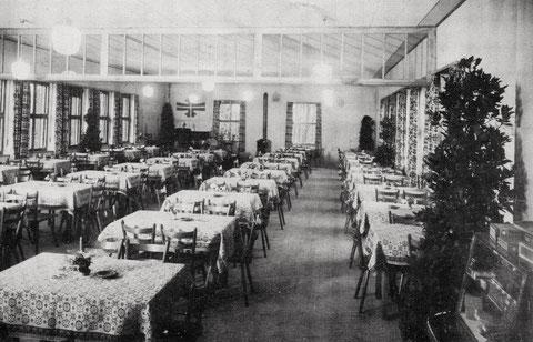 Saal im Vereinsheim - erbaut 1954