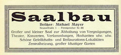 Werbung aus dem Adressbuch 1936
