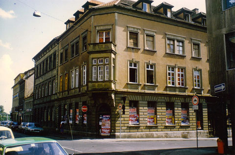 Judengasse/Ecke Brückenstraße Schweinfurt - einst Fa. Rosa - vor dem Abbruch - heute georg-Schäfer-Museum Schweinfurt