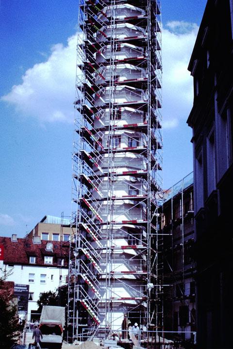 Schrotturm 4.5.1990 - Danke an Christel Feyh - Foto: Helmut Feyh