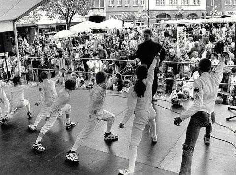 Sportfest auf dem Marktplatz