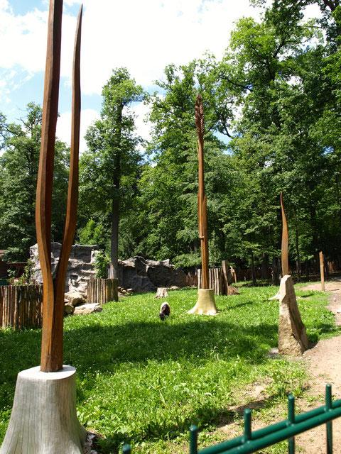 Auch Kunstwerke schmücken den Wildpark - herausragende Skulpturen von Sören Ernst