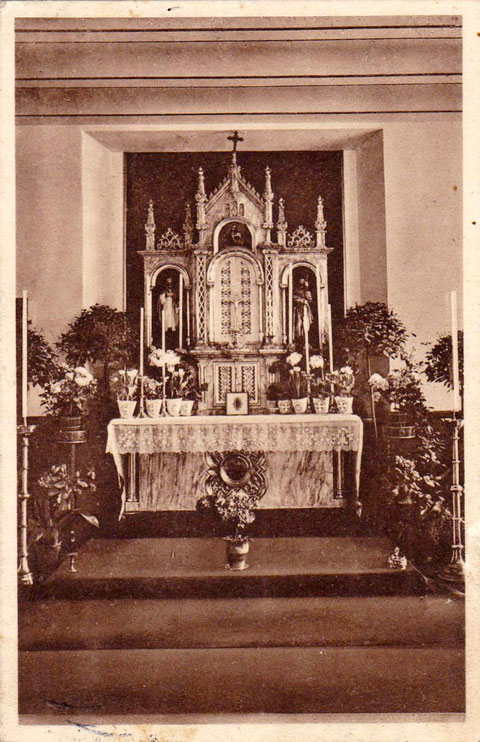 Der Altar im Maria-Theresiaheim 1930