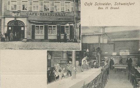 Café Schneider, Markt 8, 1919