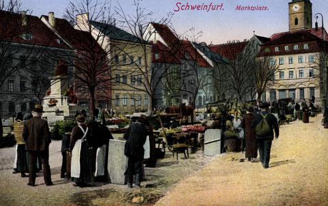 Marktplatz um 1908