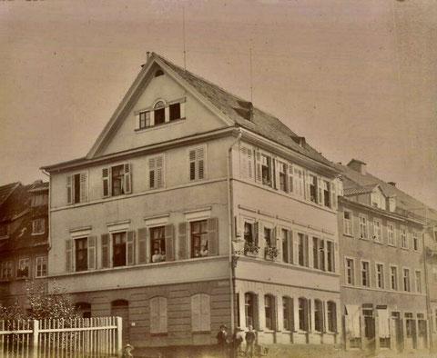 Georg-Wichtermann-Platz 1908 (Postplatz) Buhlheller, Rechtsanwalt