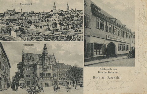 Brückenstraße 33,  Brückenbräu Hartmann 1908