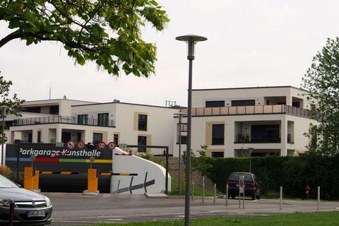 Parkgarage Kunsthalle Schweinfurt oberhalb der Hadergasse ersetzt das alte Parkhaus - 2014