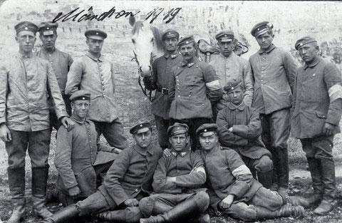 Herr Konrad Christ im Ersten Weltkrieg bei einem Reiterregiment