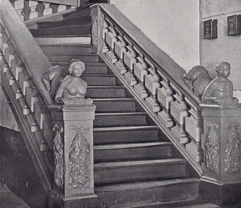 Die Treppe des einstigen Hauses Markt 8, die heute im Rathauskeller eingebaut ist