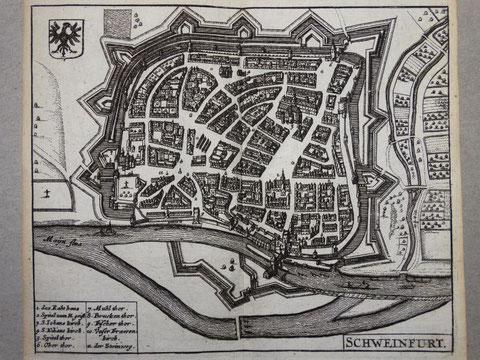 Zeiller Kupferstich engraving Karte map 1658