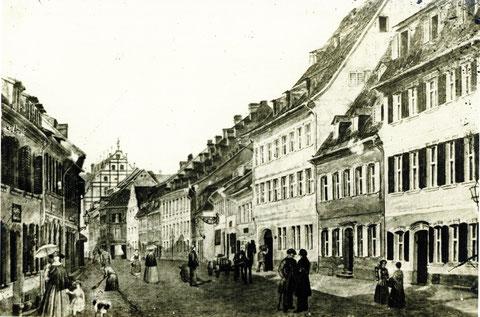 Spitalstrasse um 1850/55