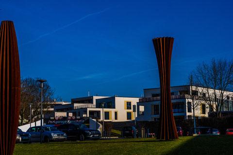 Kunsthalle - Blick auf die Neue Hadergasse hinter der Stadtmauer