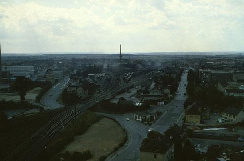 26. August 1962 - Blick in Richtung Hauptbahnhof