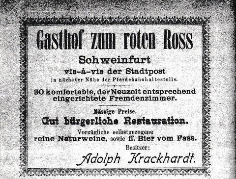 Inserat aus dem Jahr 1904 (Adressbuch)