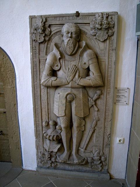 Valentin v. Münster's Grabplatte, heute in der St. Johanniskirche Schweinfurt