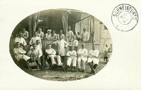 Hilfslazarett bei Sachs 1918 - Danke an Aribert Elpelt