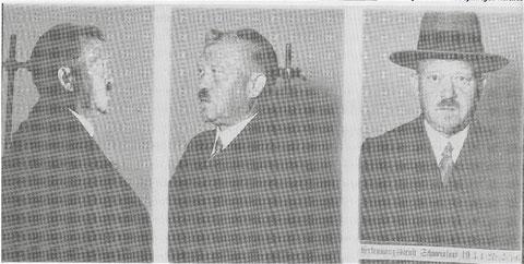 Gestapo-Aufnahmen von Fritz Soldmann nach einer Verhaftung