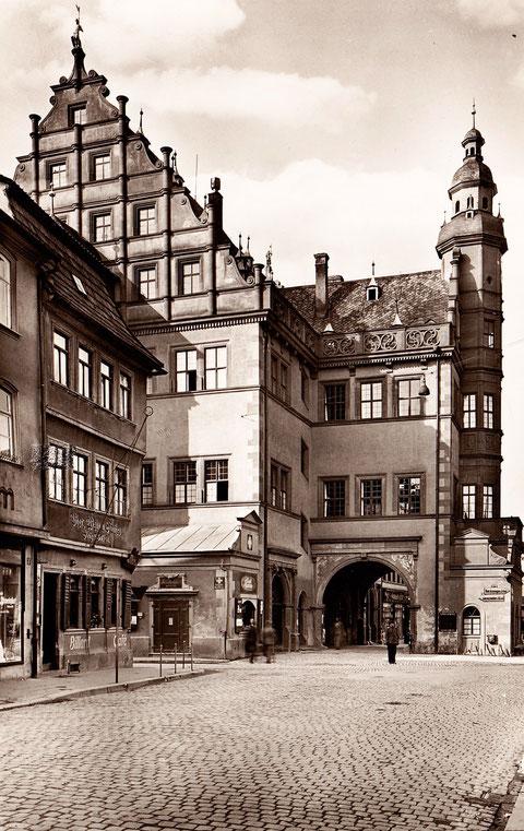 Rathaus Vorkriegszeit - bitte durch Anklicken vergrößern!