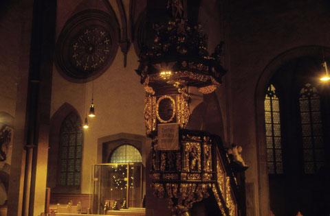 Dezember 1965 Kanzel in der Johanniskirche