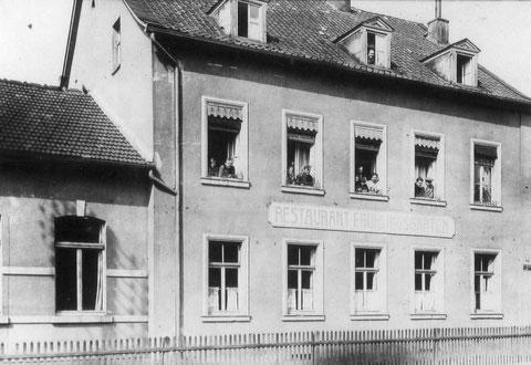 Restauration Frühlingsgarten - Ernst-Sachs-Straße 50 - wurde im Zweiten Weltkrieg völlig zerstört