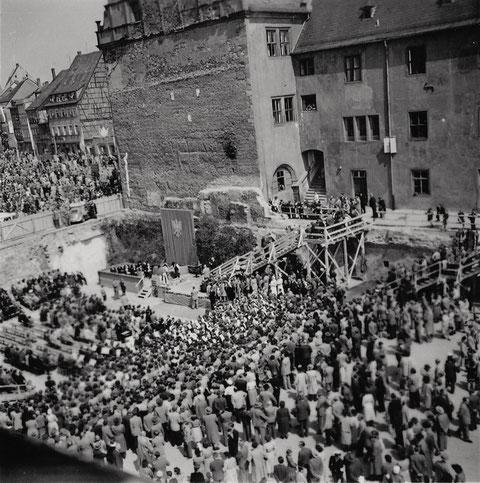 Danke an Bernd Glück - Grundsteinlegung Mai 1954