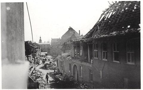 Lebküchnerhaus und Blick in Wolfsgasse ca. 1944/45