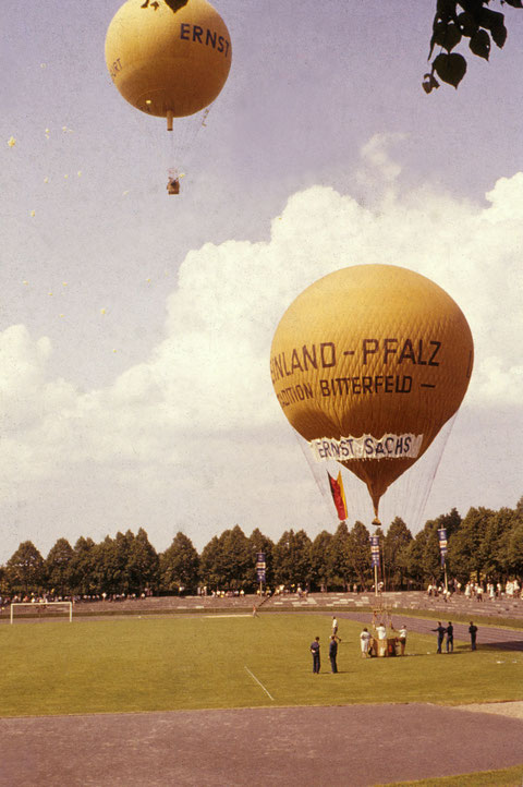 7. Juni 1959 - Start der Ballonwettfahrt