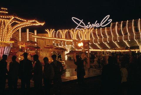 Danke an Holger Meyer - Distel-Autobahn auf dem Schweinfurter Volksfest 1959