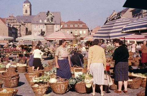 Septmebr 1960 - Schweinfurter Wochenmarkt