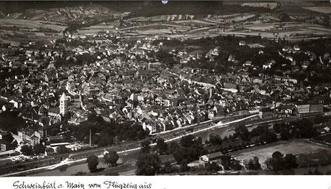 Luftaufnahme Schweinfurt vor dem 2. Weltkrieg