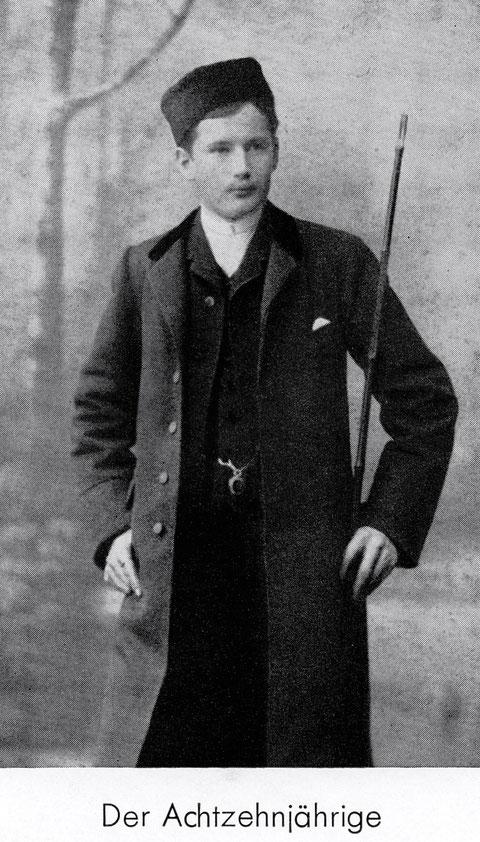 Ernst Sachs mit 18 Jahren