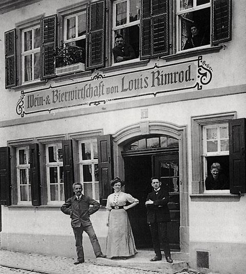 Gaststätte Rimrod um 1920 - Zehntstraße Nr. 7