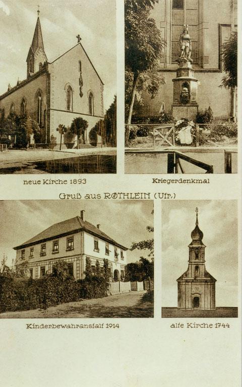 Röthlein ca. 1920 - Herzlichen Dank an Herrn Gerald Hofmann