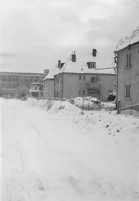 1945 - Bayernstraße (Ludendorffstraße) im Winter (Januar)