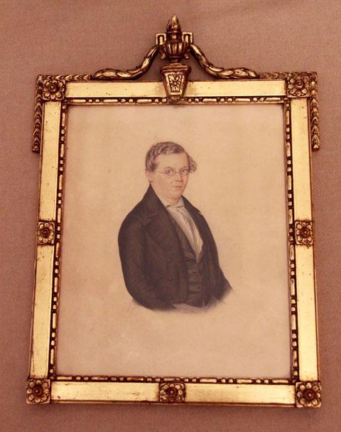 Paul Friedrich Schneider - Gemälde von Christian Adam Stößel (1810 - 1863), Schweinfurt, 1849