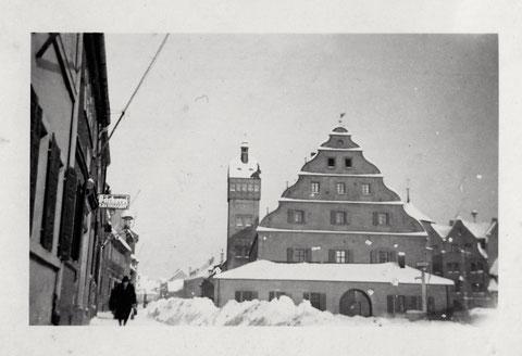 Zeughaus im Schnee - Vorkriegszeit