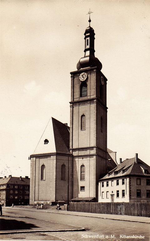 Die Kilianskirche, zerstört im Zweiten Weltkrieg