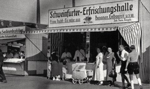 Volksfest in den 1950er-Jahren
