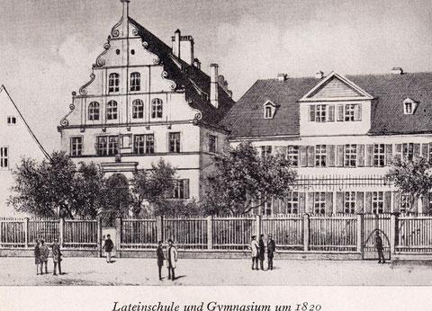 Das Schweinfurter Gymnasium um 1820