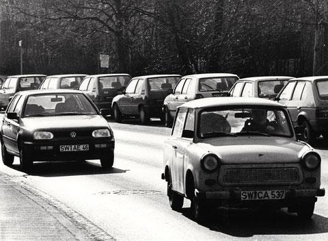 Um 2000 - Liebhabertrabi unterwegs in Schweinfurt