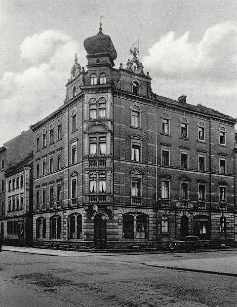Gambrinus Ecke Sattler-/Schrammstraße vor dem Zweiten Weltkrieg