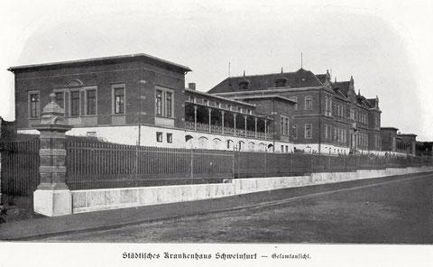 Das Städtische Krankenhaus im Jahr 1901